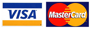 We Accept Mastercard and Visa